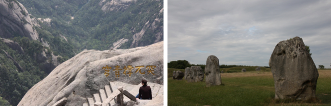 Gele Bergen en Stone Circles